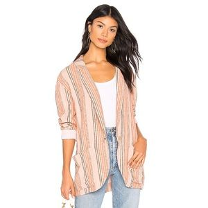 New Free People Simply Stripe blazer L